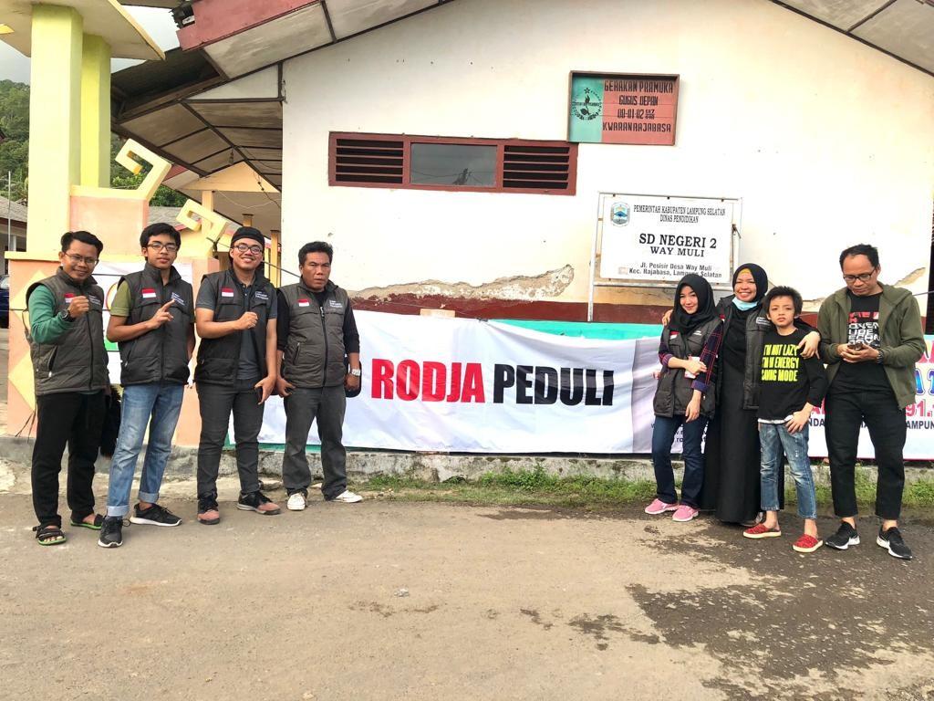Relawan Green Edelweiss Foundation bencana alam Lampung - nalar.id