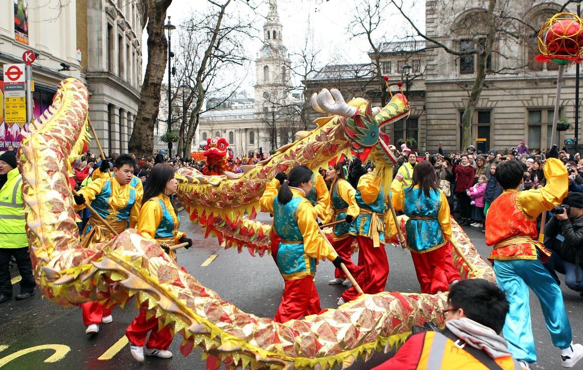 Perayaan Imlek di London, Inggris - nalar.id